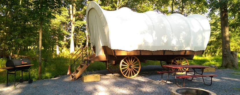Site view of Conestoga Wagon