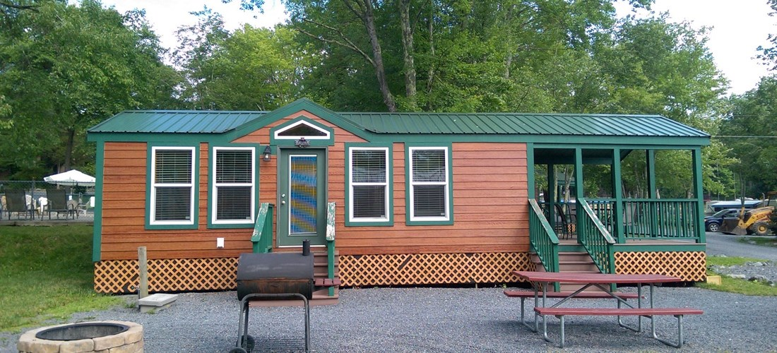 Pet-friendly cabins allow campers to experience thier vacation with their whole family