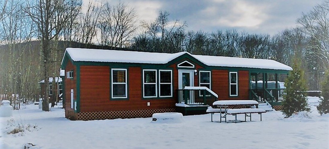 These cabins have limited water during the winter months!