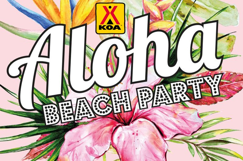 Aloha Beach Party: Event at the Des Moines West KOA Campground in Iowa