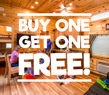 Cabins/Trailers/Glampers - Buy 1 Get 1 Free Photo