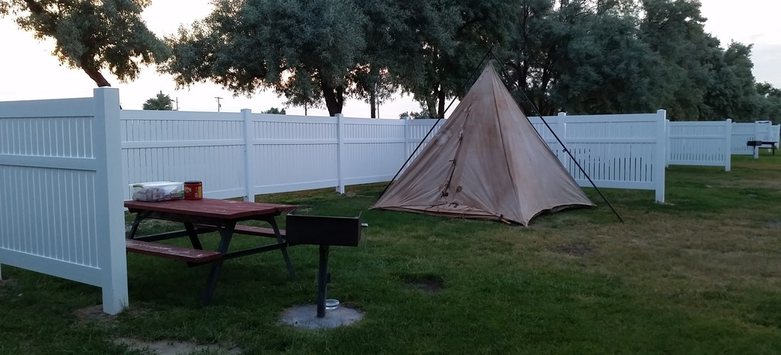 Come have privacy on three sides while tenting large enough to set out chairs and conditions permitting a campfire.