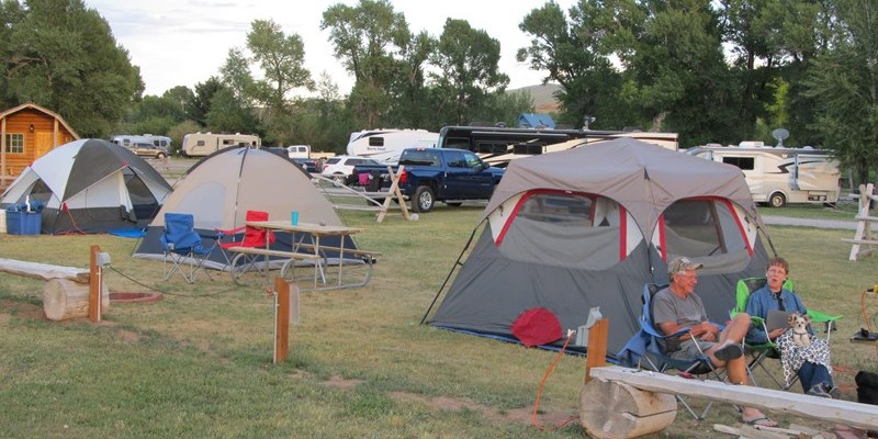 Deluxe tent sites with water and electric