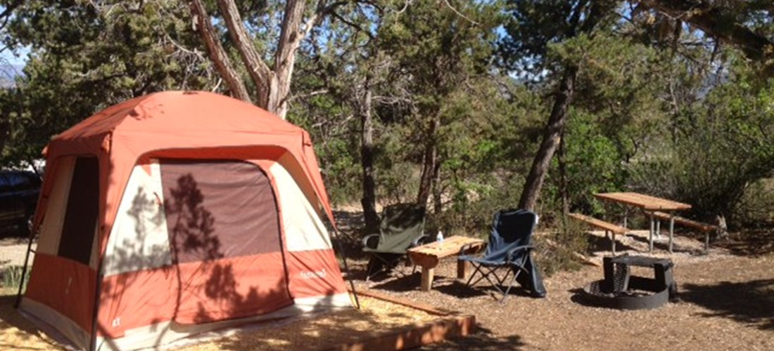 Some of our tent sites have defined tent pads, with Water/Electric hookups. Make sure to tell us the size of your tent when booking with us!
