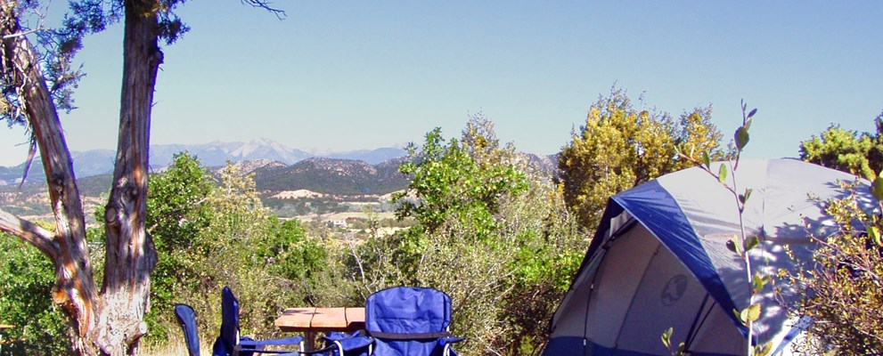 The beautiful view from one of our No-Hookup Tent sites.