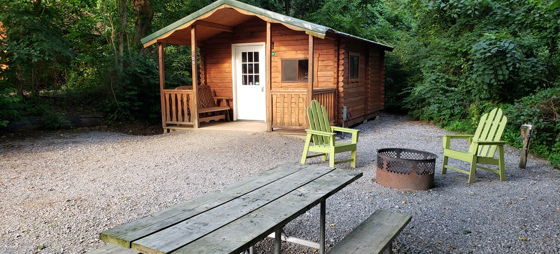 2 ROOM CAMPING CABIN (W/O BATHROOM) Handicapped Friendly