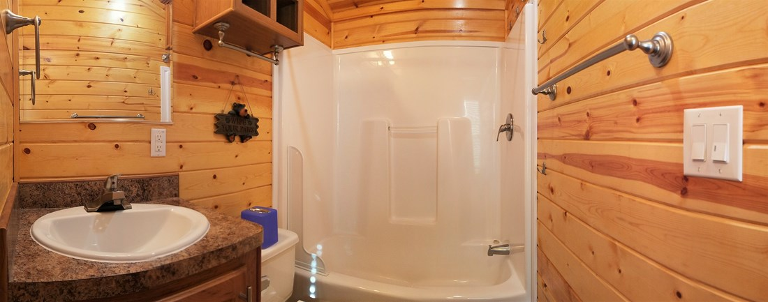 Large Deluxe Cabin Interior Bathroom