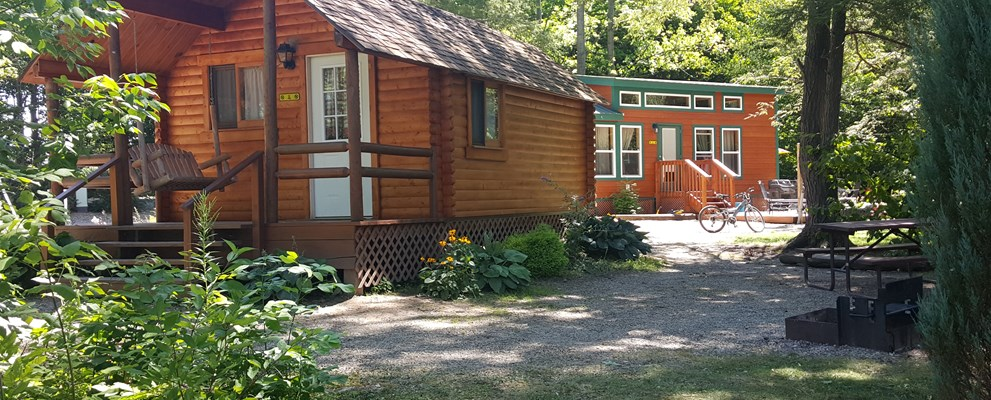 Deluxe Cabin, Full size bed, sleeps 4