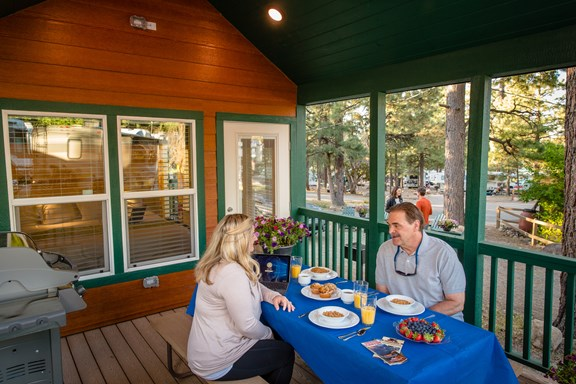 Breakfast Outdoors on Your Private Deck