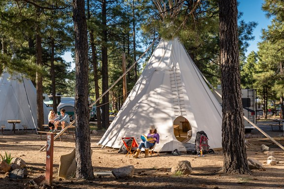 Tipis at the Flagstaff KOA