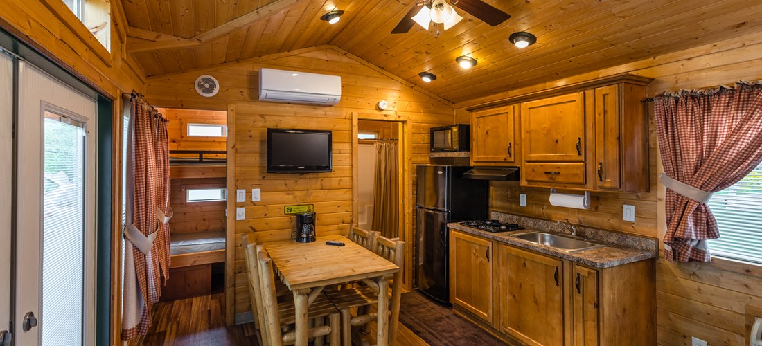 Inside view of lodge - kitchenette