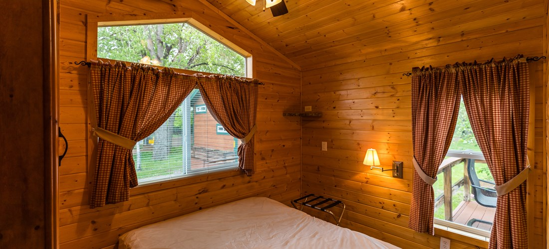 Inside view of lodge - master bedroom