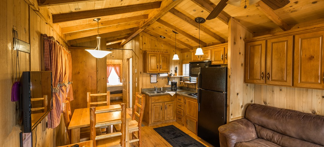 Inside view of hot tub lodge