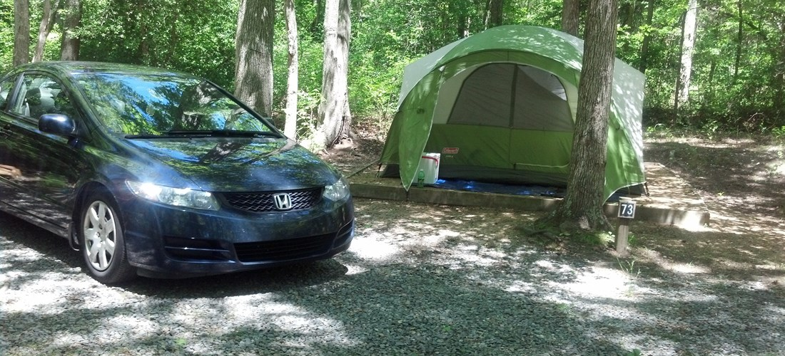 No Hookup with Tent pad