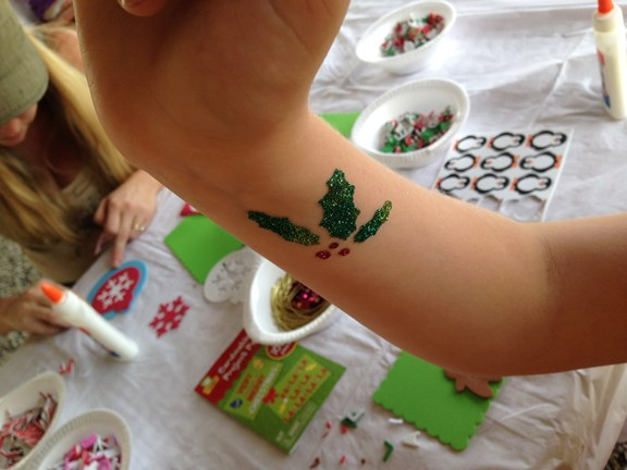 Glitter Art Tattoos!