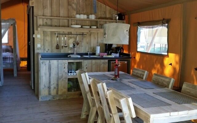 Glamping Tent Kitchen