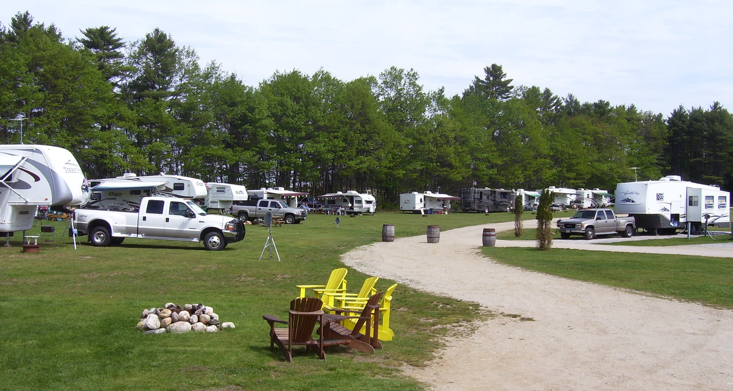 Durham Maine RV Camping Sites Freeport Durham KOA