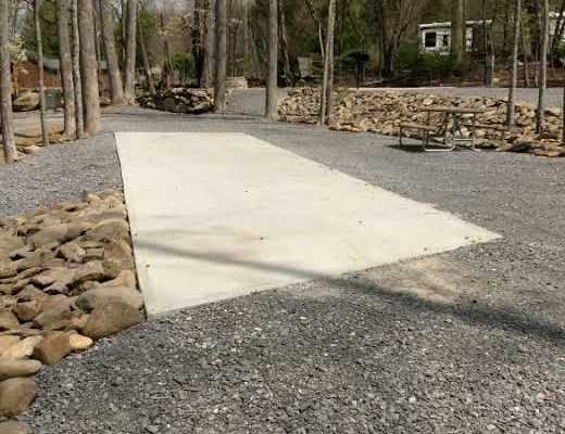 Pull In with a partial concrete pad