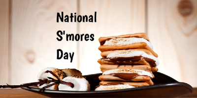 August 9 - 11: National S'mores Weekend