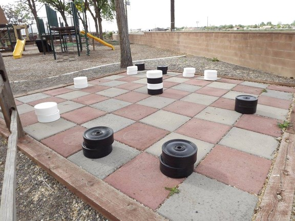 Life Sized Checker Board