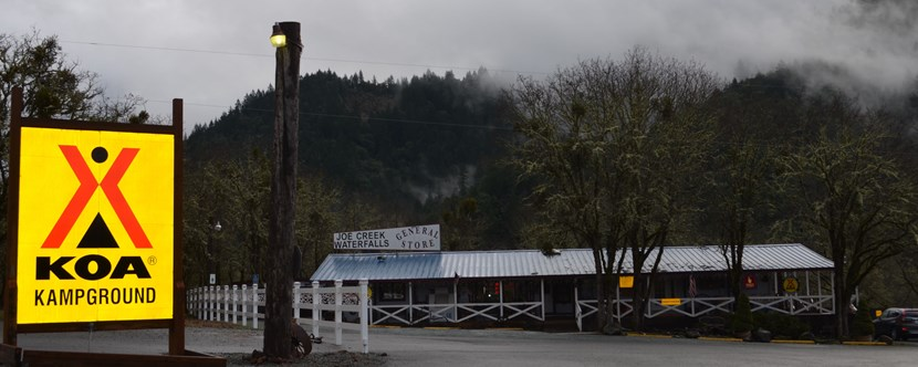 A nice foggy winter day at Grants Pass KOA