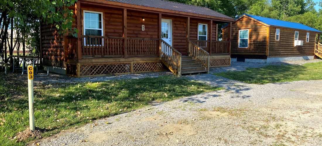 Cabin 3 - Long Porch Front