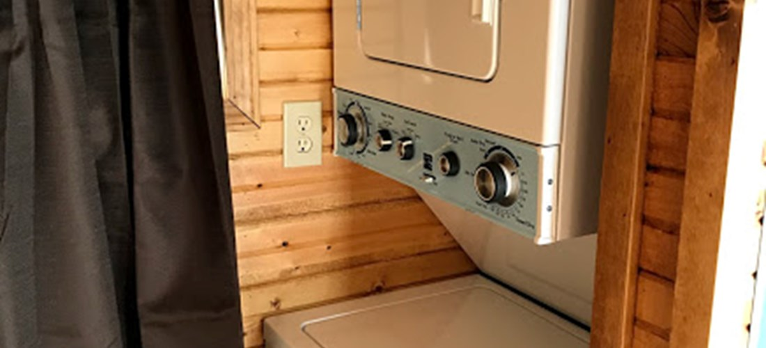 Washer and Dryer in Tiny House