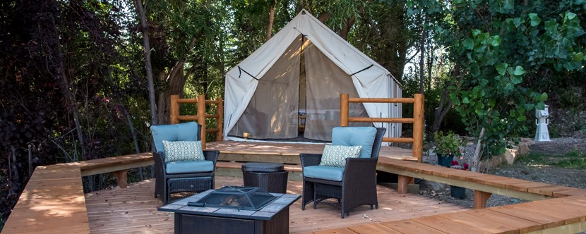 'Glamping' Tent