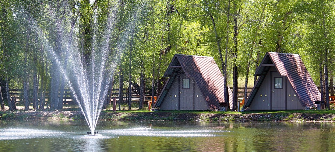 Tent Cabins with Pond Views