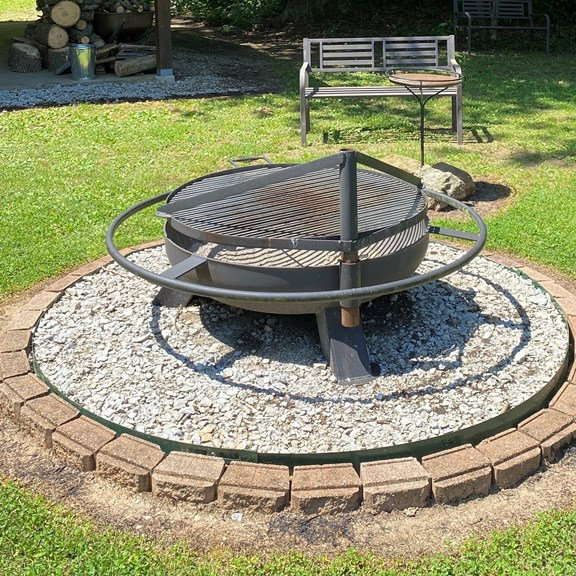 Community fire pit & grill
