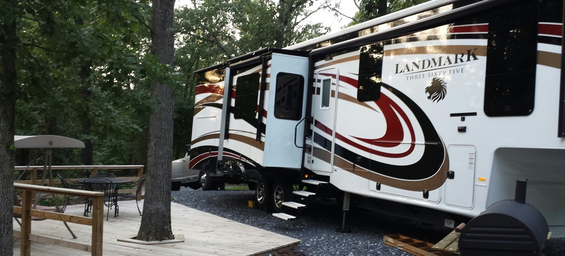 Harrisonburg KOA Deluxe RV site