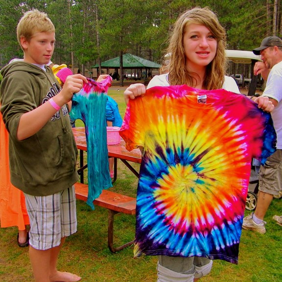 Tie-Dye T-Shirts* (available on Artistic Jamboree Weekend)