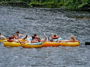 Tubing and Canoeing on the River*
