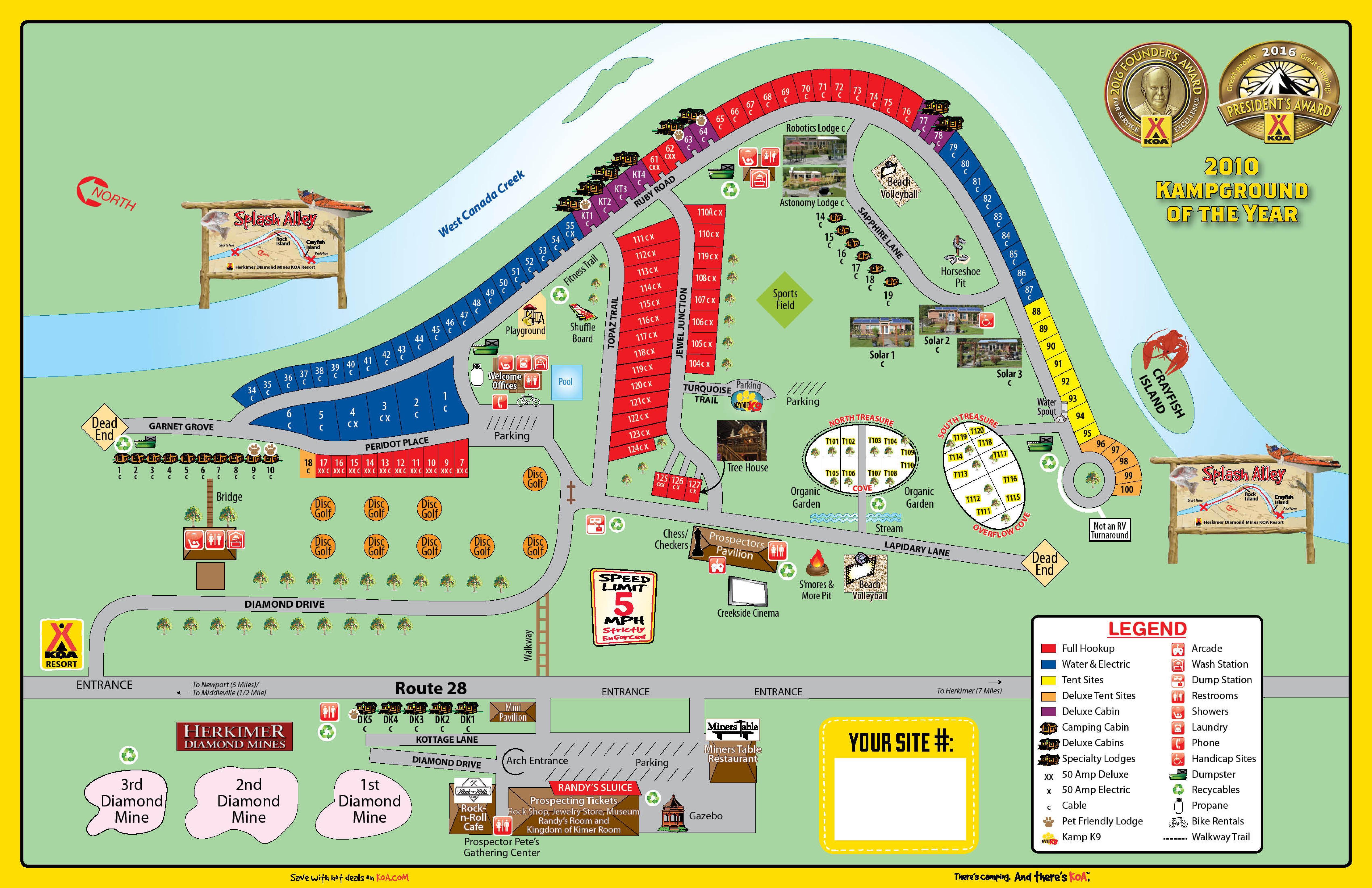 Herkimer New York Campground Herkimer Diamond Koa - Us-map-of-koa-campgrounds