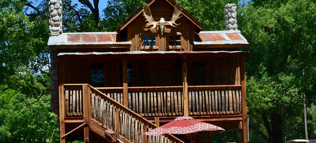 Great American Mining Treehouse exterior