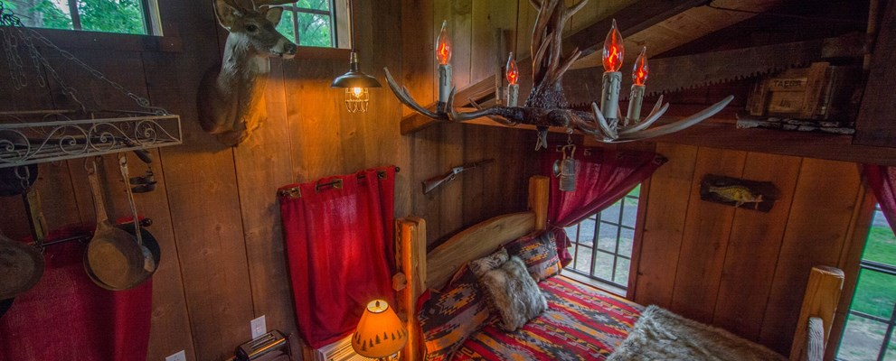Great American Mining Treehouse interior