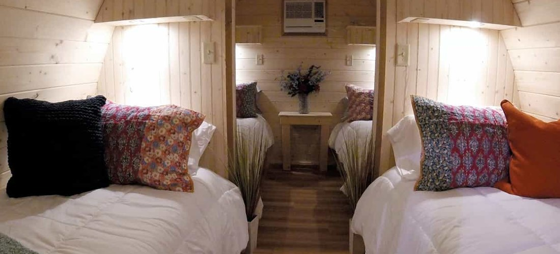 Camping Cabin - Glamping Pod for four