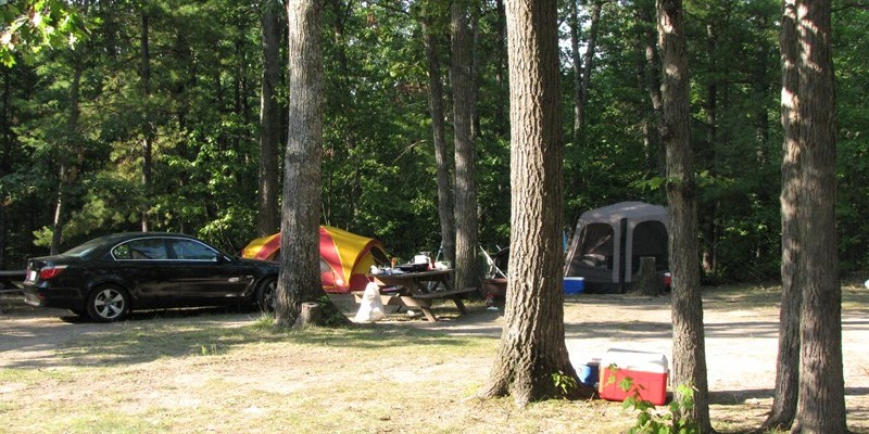 No hookup site suitable for tent or popup campers