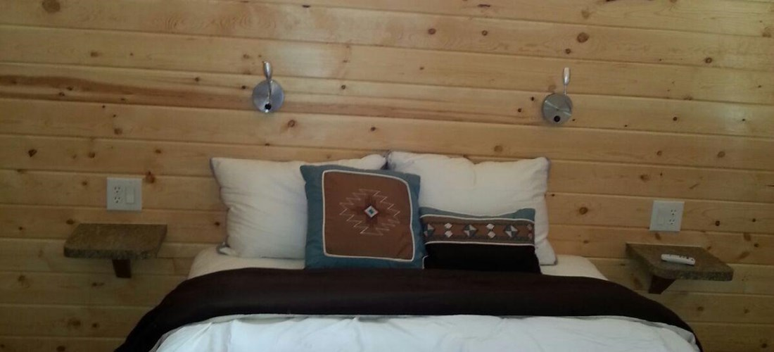 Deluxe Camping Cabin - Lodge's bedroom