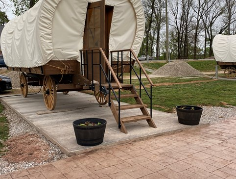 PROMO CONESTOGA WAGON $119.00 PLUS TAX  PER NIGHT Photo