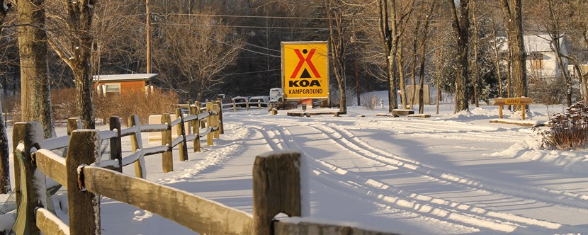 KOA Entrance Road