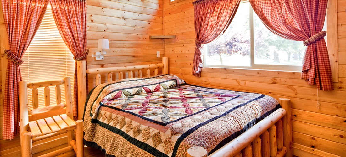 Bedroom of our Deluxe Cabins