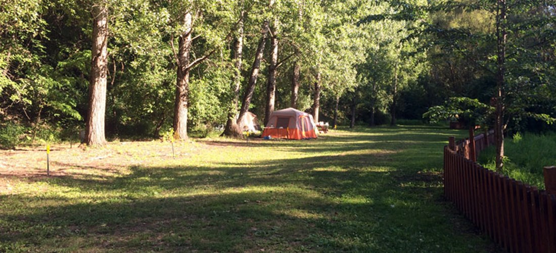 Beautiful tent sites