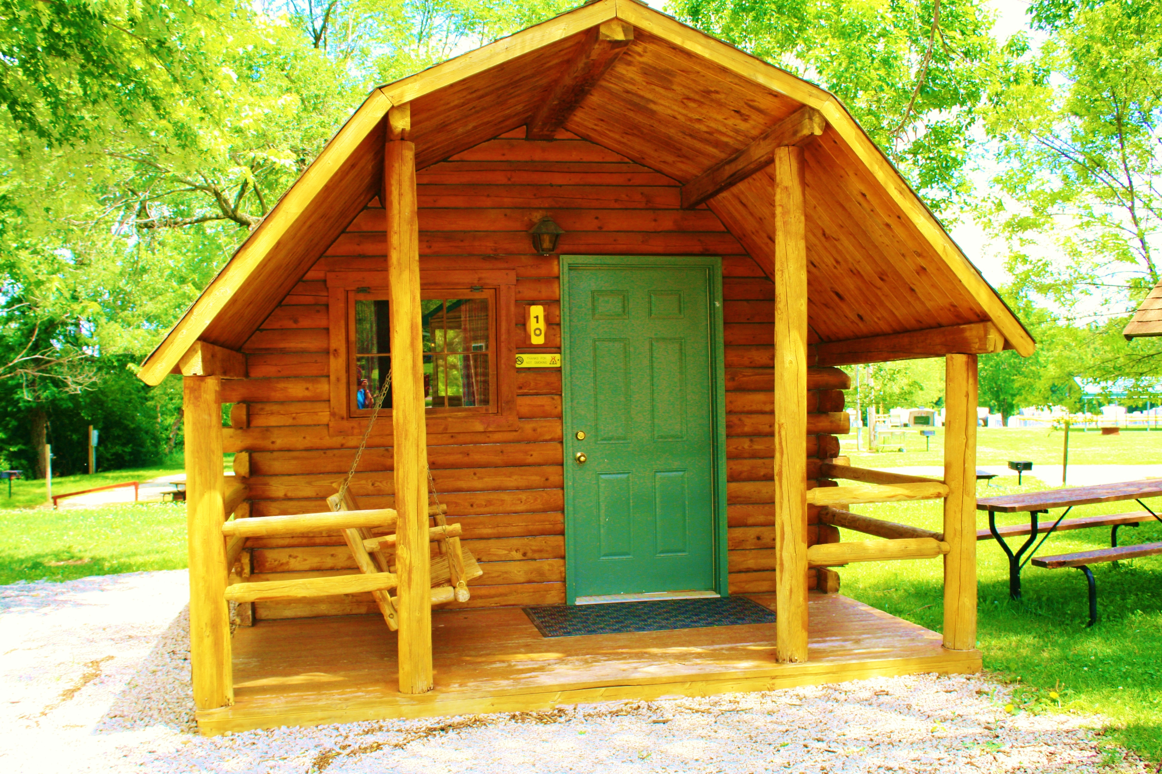 in lodging koa type cabin site rentals campgrounds topeka cabins city kansas capital
