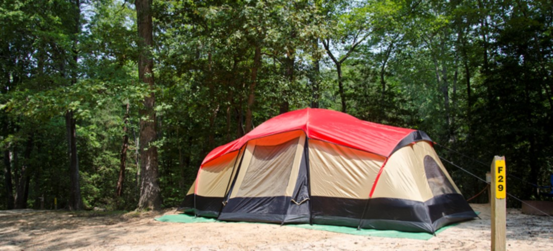 Example Photo. Actual Tent Site Will Vary.