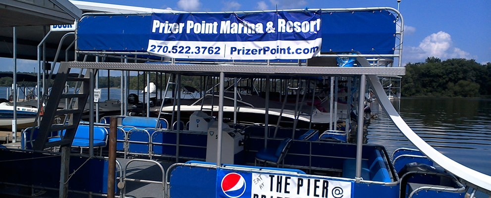 30' Pontoon Boat at Prizer Point