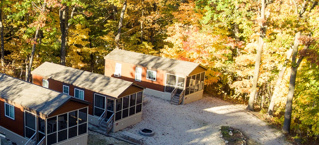 Premium Cottage overhead view.