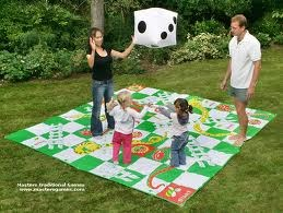 Giant Checkers and Oversized Snakes and Ladders