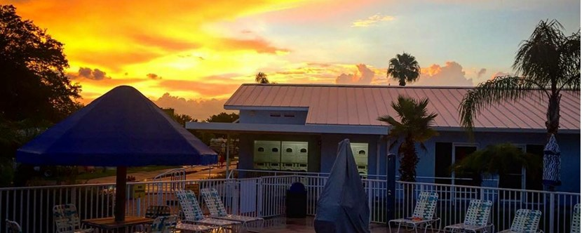Sunset at the Kissimmee KOA