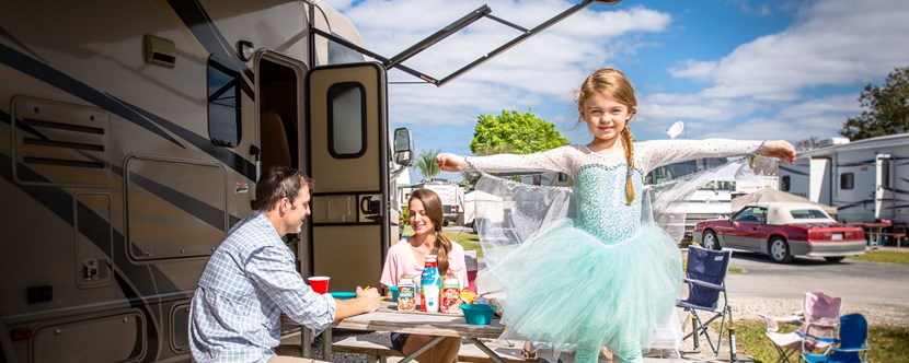 RV camping at Kissimmee is magical!